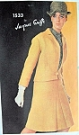 1960s CLASSY GRIFFE  3 Pc Suit Pattern VOGUE PARIS ORIGINAL 1533 Daytime or Cocktail Suit Size 10 Vintage Sewing Pattern