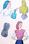 1940s SNOOD Style Hat, Handbag and Jacket Pattern Simplicity 1543 Fab Swing Era Accessories Vintage Sewing pattern FACTORY FOLDED