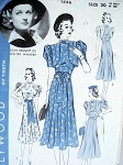 1930s LOVELY DRESS ,BOLERO PATTERN HOLLYWOOD MOVIE STAR JOAN BENNETT
