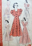 1930s  EVENING GOWN PATTERN DEEP SQUARE NECKLINE PRINCESS STYLE, BOLERO JACKET HOLLYWOOD 1615