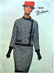 1960s Balmain Slim Dress and Jacket Pattern Vogue Paris Original 1634 Uncut Sew In Label Bust 31