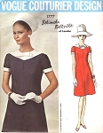 CUTE 60s A LINE DRESS PATTERN BELINDA BELLVILLE VOGUE COUTURIER DESIGN