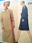 1960s STEP IN COAT DRESS PATTERN VOGUE AMERICANA  1784