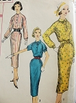 1950s SLIM SHIRTDRESS PATTERN SOFT LINES 2 VERSIONS SIMPLICITY 1914
