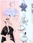 1950s Chic Stoles Wraps Cape Pattern McCALLS 1943 Five Sophisticated Styles Daytime or Evening Vintage Sewing Pattern For Fabrics and Furs