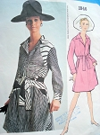 1970s SHIRT DRESS PATTERN DESIGNER GALANOS VOGUE AMERICANA