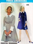 1960s BABY DOLL STYLE DRESS PATTERN CHESTER WEINBERG VOGUE AMERICANA 1986