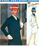1960s  JO MATTLI Slim Skirt Suit Pattern Beautifully Designed Jacket Vogue Couturier Design 2001 Vintage Sewing Pattern Bust 34