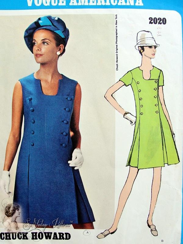 1960s Vogue Americana 2020 Vintage Sewing Pattern