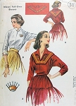 1950s SOUTH WEST Boho Chic Style Blouse Pattern McCALLS 2167 Two Styles Pull Over Blouses Plus Embroidery Transfer Bust 36 Vintage Sewing Pattern