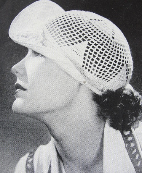 1930s Art Deco Flirty Crocheted Brimmed Lacey Hat Instant Pdf