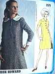 1970s Classy A Line Dress Pattern Vogue Americana 2171 Vintage Sewing Pattern Chuck Howard