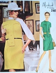 JEWEL NECKLINE DRESS PATTERN VOGUE COUTURIER 2187