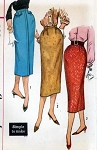 SIMPLICITY 2196  SKIRT PATTERN 1950s SLIM PENCIL SKIRTS 3 STYLES