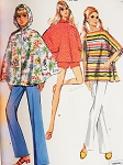 1970 Cute Ponchos, Pants or Shorts Pattern McCalls 2259 Vintage Sewing Pattern Bust 30 UNCUT FACTORY FOLDED