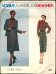 CLASSY  CALVIN KLEIN  3 PC SUIT PATTERN LOVELY BLOUSE VOGUE AMERICAN DESIGNER 2283
