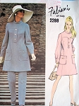 70s DRESS,TUNIC, PANTS PATTERN VOGUE COUTURIER # 2288 FABIANI