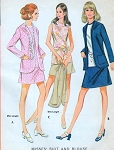 1970s RETRO Suit and Blouse Pattern Easy To Make Vintage McCalls 2330 Sewing Pattern UNCUT FACTORY FOLDED Bust 34