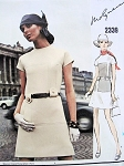 1970 MOD MOLYNEUX Dress Pattern Vogue Paris Original 2339 Seam Interest Slightly A Line Dress Bust 38 Vintage Sewing Pattern UNCUT + Vogue Label