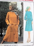 1960s UNGARO Midi or Regular Length Dress Pattern Vogue Paris Original 2490 Flattering PinTuck Seams Bust 34 Vintage Sewing Pattern UNCUT
