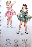 1940s CUTE Little Girls Toddlers Dress and Panties Pattern SIMPLICITY 2529 Two Pretty Versions Size 3 Childrens Vintage Sewing Pattern