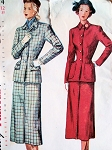 1940s FITTED SUIT PATTERN SIMPLICITY 2574