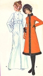 1970 FAB Doctor Zhivago Style Evening or Day Coat Pattern McCALLS 2676 Midi or Maxi Length Coats Julie Christie Styles Bust 32 Vintage Sewing Pattern
