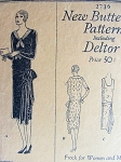 1920s FLAPPER DRESS PATTERN 2 STYLES DROP WAIST, SIDE DRAPE or LARGE BOW PURE GATSBY GLAM  BUTTERICK PATTERNS 2736