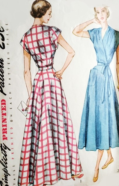 1940s Lovely Hostess Gown Wrap Robe Brunch Coat Or House