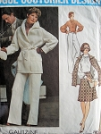 70s Chic Wrap Jacket,Skirt,Pants and Blouse Pattern Very Stylish GALITZINE VOGUE COUTURIER Design 2987 Vintage Sewing Pattern Bust 32.5