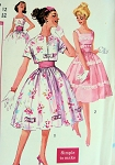 1960 FULL SKIRTED PARTY DRESS , JACKET, CUMMERBUND PATTERN VERY PRETTY STYLE SIMPLICITY 2992