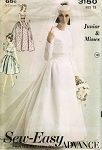 1960s BRIDAL GOWN WEDDING DRESS, JACKET PATTERN ADVANCE 3150