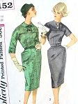 1960s CLASSY Slim Mad Men Era Dress Pattern SIMPLICITY 3152 Bust 36 Vintage Sewing Pattern