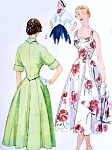Lovely Cocktail Party or Sun Dress Pattern Simplicity 3207 Figure Flattering Midriff Full Skirt Dress Kimono Sleeve Short Jacket  Vintage Sewing Pattern