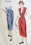 1950s Slim Skirt and Jumper Skirt Pattern EASY TO MAKE Vogue 3429 Vintage Sewing Pattern