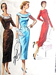 1950s BOMBSHELL Slim Dress Pattern McCALLS 3461 Figure Show Off Day or Cocktail Dress Bust 32 Vintage Sewing Pattern