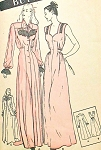 GLAMOROUS 1940s  Nightgown and Negligee Robe Pattern BUTTERICK 3709 Beautiful Design Bust 30 Vintage Sewing Pattern