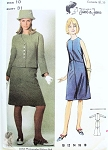 Mod 1960s Jane & Jane Jean Muir A Line Dress and Jacket Pattern Butterick 3723 Bust 31