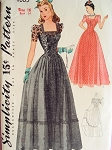 1940s DINNER DANCE FORMAL GOWN PATTERN SIMPLICITY 4065
