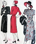 1940s  STUNNING Dress Pattern Butterick 4112 ASYMMETRIC DRAPERY Bodice and Hipline Lovely Draped Detail  Bust 30 Vintage Sewing Pattern