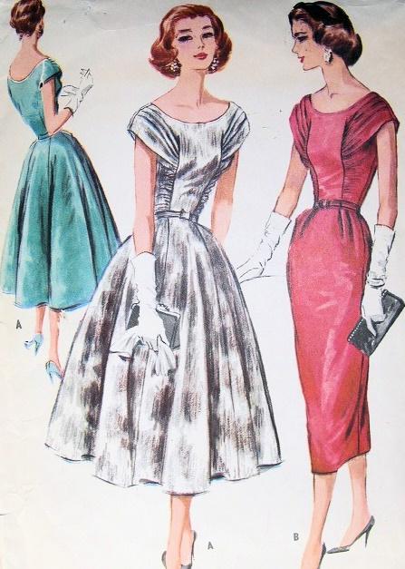 Full Skirt Party Cocktail Dress