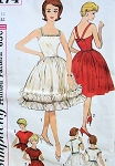1960s EVENING DRESS JACKET PATTERN STRAPPY BACK, FITTED BODICE, 2  FULL SKIRTED VERSIONS, FLIRTY STYLE SIMPLICITY PATTERNS 4174