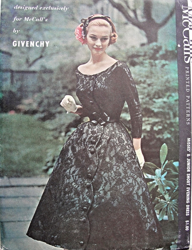 1950s RARE Givenchy Dress and Petticoat Pattern Beautiful Short ...