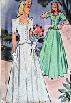 1940s  GLAMOROUS Evening Gown Pattern McCALL 4253  Beautiful Forties Design, Figure Flattering, Perfect For Wedding, Bridesmaid, Prom Dress  Bust 30 Vintage Sewing Pattern