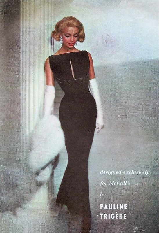 1950s GORGEOUS Evening Dress Gown Pattern McCALLS 4258 Pauline ...