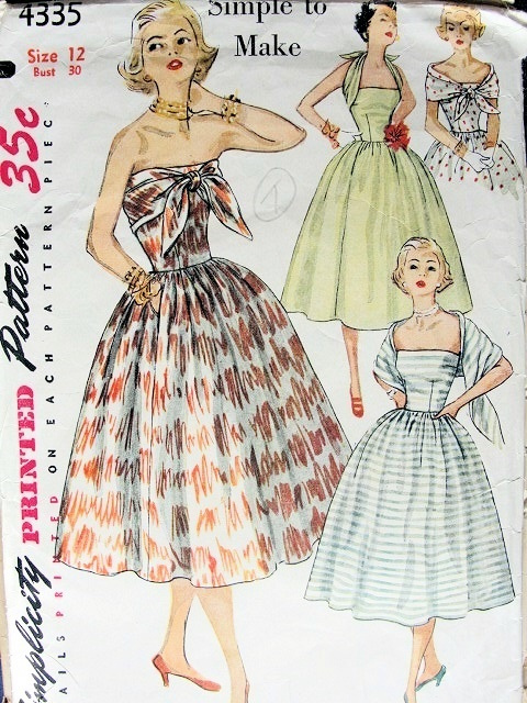 1950s COCKTAIL PARTY DRESS PATTERN