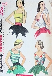 1950s SIMPLE TO MAKE SUMMER BLOUSES PATTERN SLEEVELESS 3 STYLES SIMPLICITY 4350