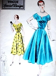 1950s BEAUTIFUL Cocktail Party Dress Pattern VOGUE Special Design 4382 Bust 30 Vintage Sewing Pattern
