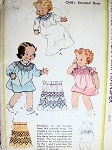 1930S ADORABLE Childs Little Girls Smocked Dress Pattern McCALL 442 Sweet Infants Dress or Gown in 3 Versions Size Infants Vintage Childrens Sewing Pattern