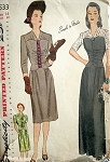 1940s EVENING GOWN PATTERN SIMPLICITY 4533